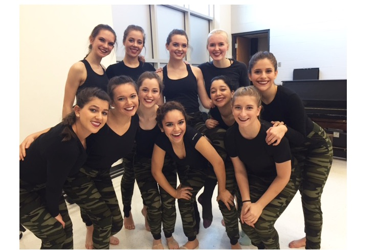 Colleen King gathers with the other members of LADC before their show for Dancers United.