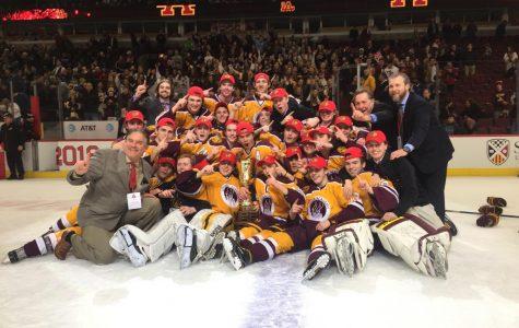 LAG celebrates its State Championship win.