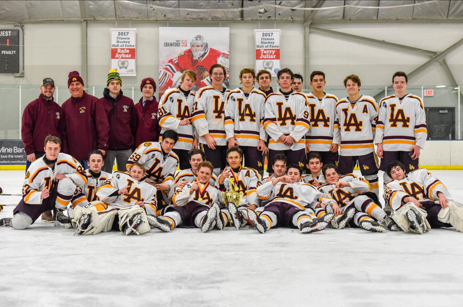 Loyola Academy Maroon defeated Carl Sandburg 4-1 to capture the 2018 O'Grady Cup
