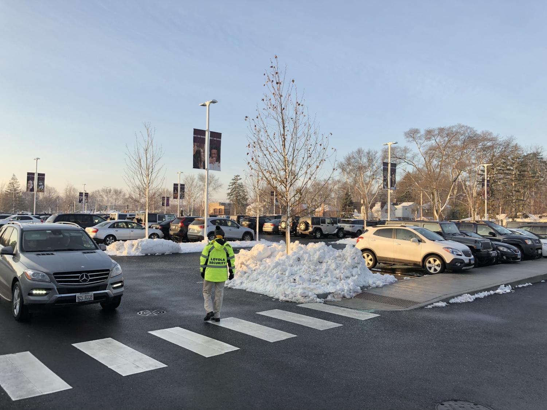The new designated senior parking lot.