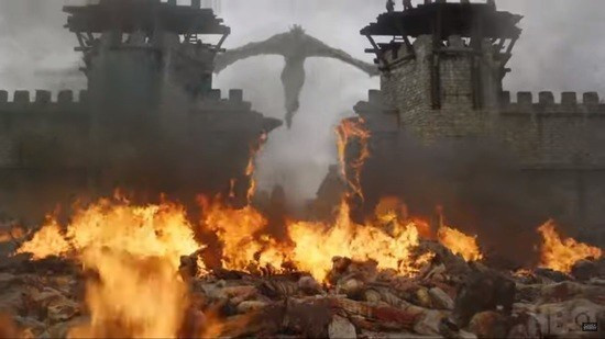 Danny torches King's Landing in the fifth episode.