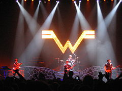 Weezer playing in Japan in support of their 2005 release Make Believe