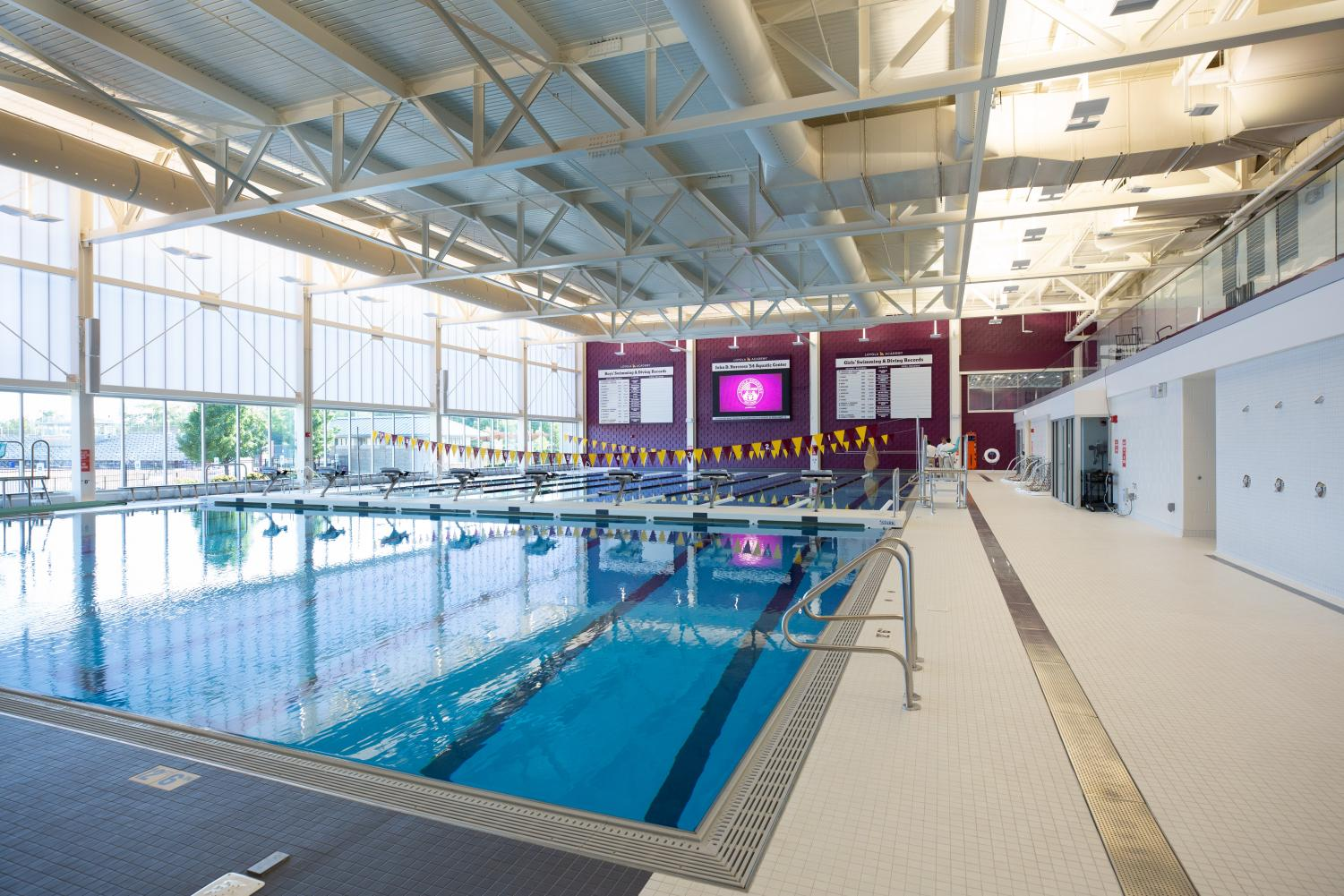 Loyola opened its new pool on Aug 11. Molly Ball and the rest of the girls swim team is loving their new home.