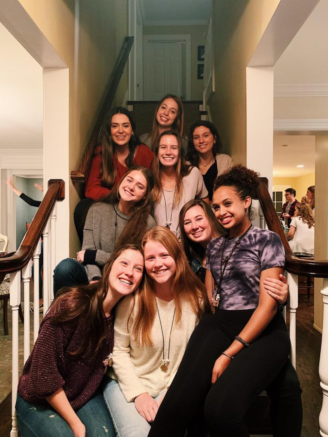 Senite Barih's small group reconnects at the Kairos party.