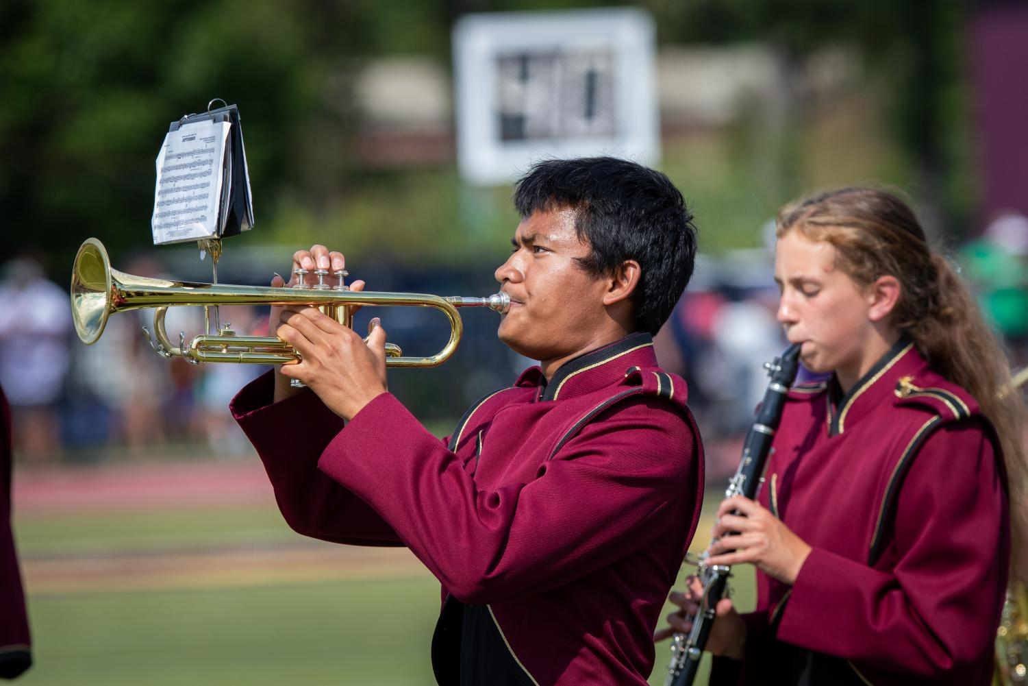 The band adds extra energy to football games. This week, they'll showcase their skills at their Fall Concert.