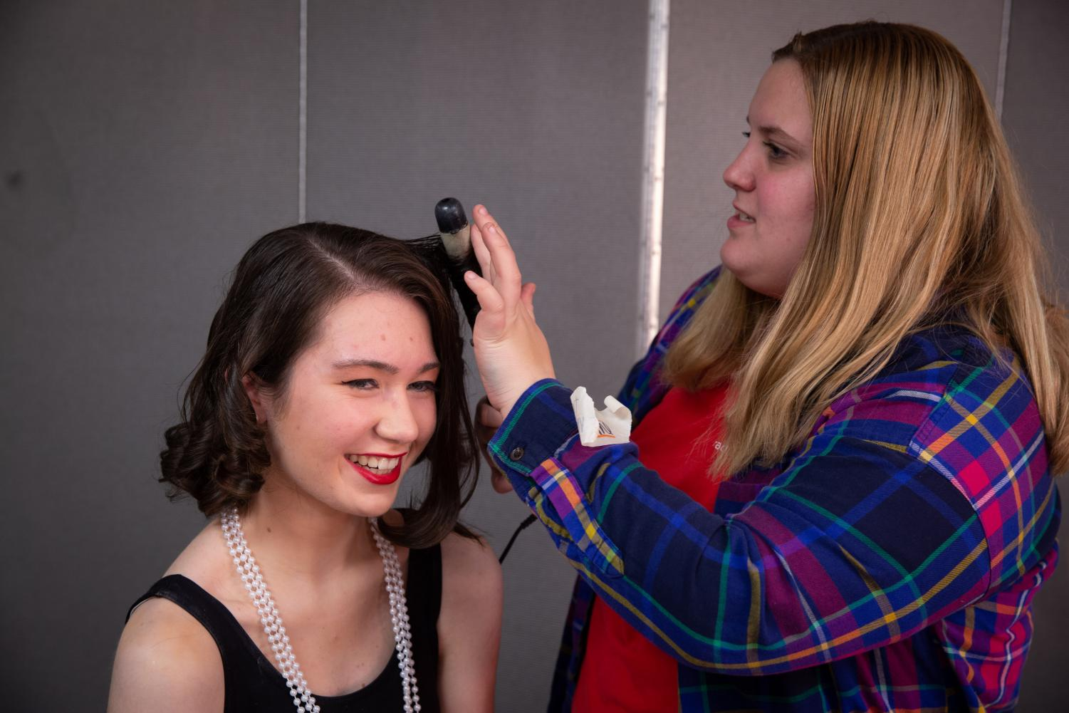 Hair and make-up were just one of the many pieces of a successful show.
