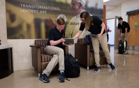 Students may no longer be ini the halls of Loyola, but can still learn and help each other out with tech. Not all local students and teachers are so lucky.