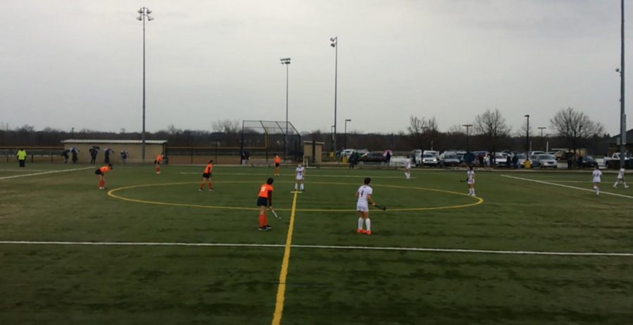 The Ramblers take the field at the start of the 2nd half. Loyola went on to win the game 2-0.