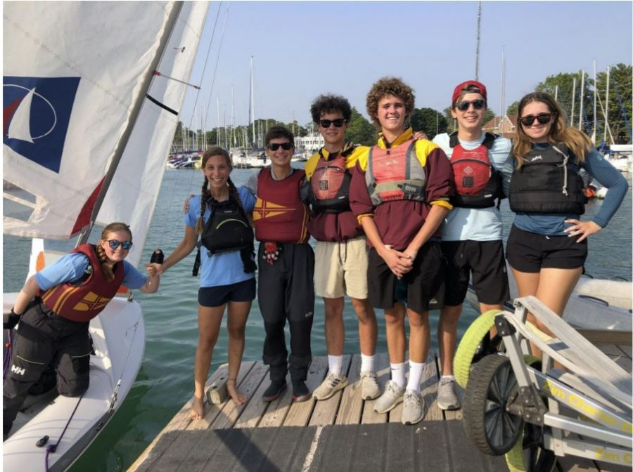 Loyola varsity sailors on Day 2 prepare to get on the water for a good day of racing.