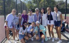 Varsity tennis brings business casual to practice.