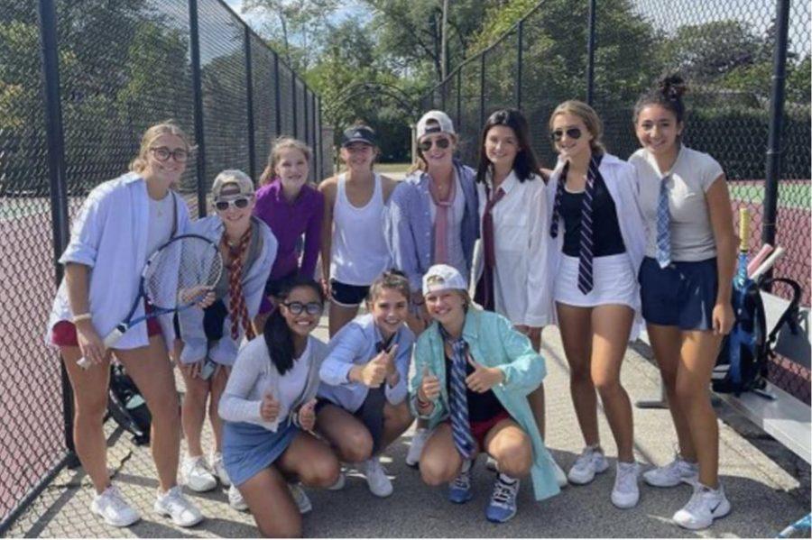 Varsity+tennis+brings+business+casual+to+practice.